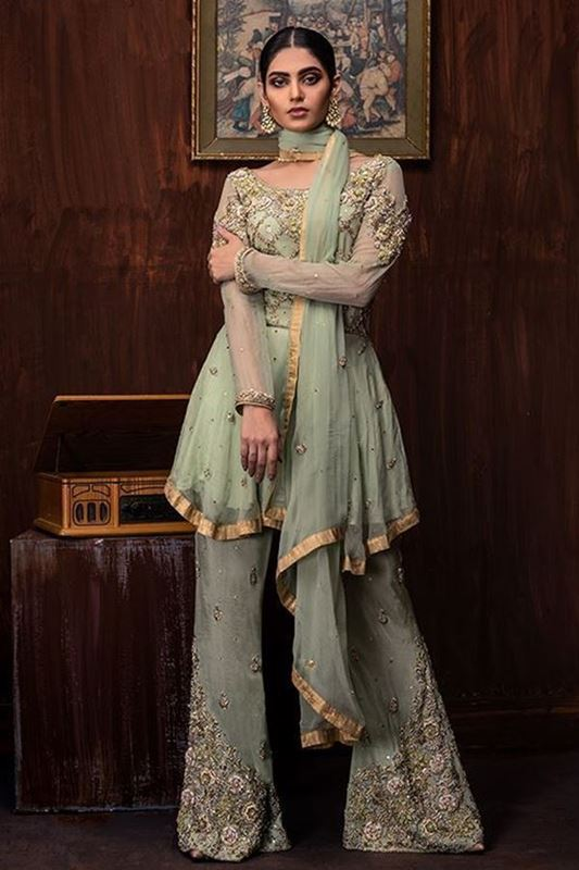 Sadaf Amir - Green Formal Chiffon Frock