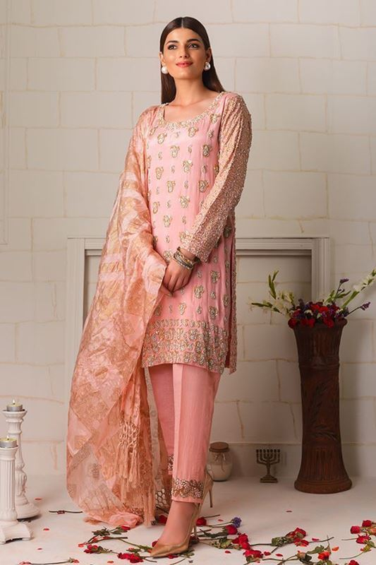 Sadaf Amir - Pink Formal Raw Silk Shirt