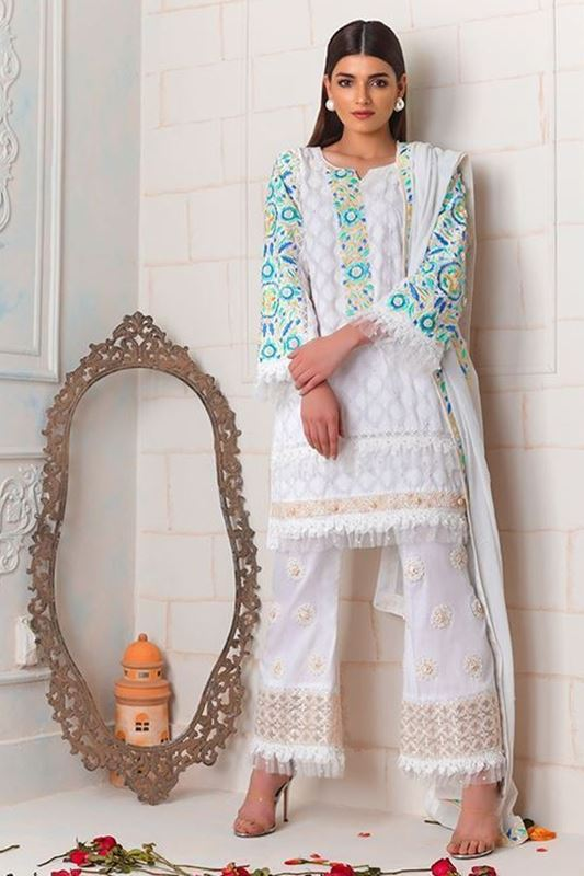 Sadaf Amir - White Formal Cotton Shirt