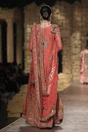 Sadaf Amir - Orange Bridal Raw Silk Gharara