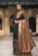 Sadaf Amir - Green Bridal Raw Silk Sharara