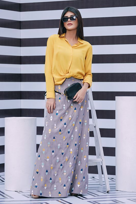 Sadaf Amir - Yellow Fusion Cotton Shirt